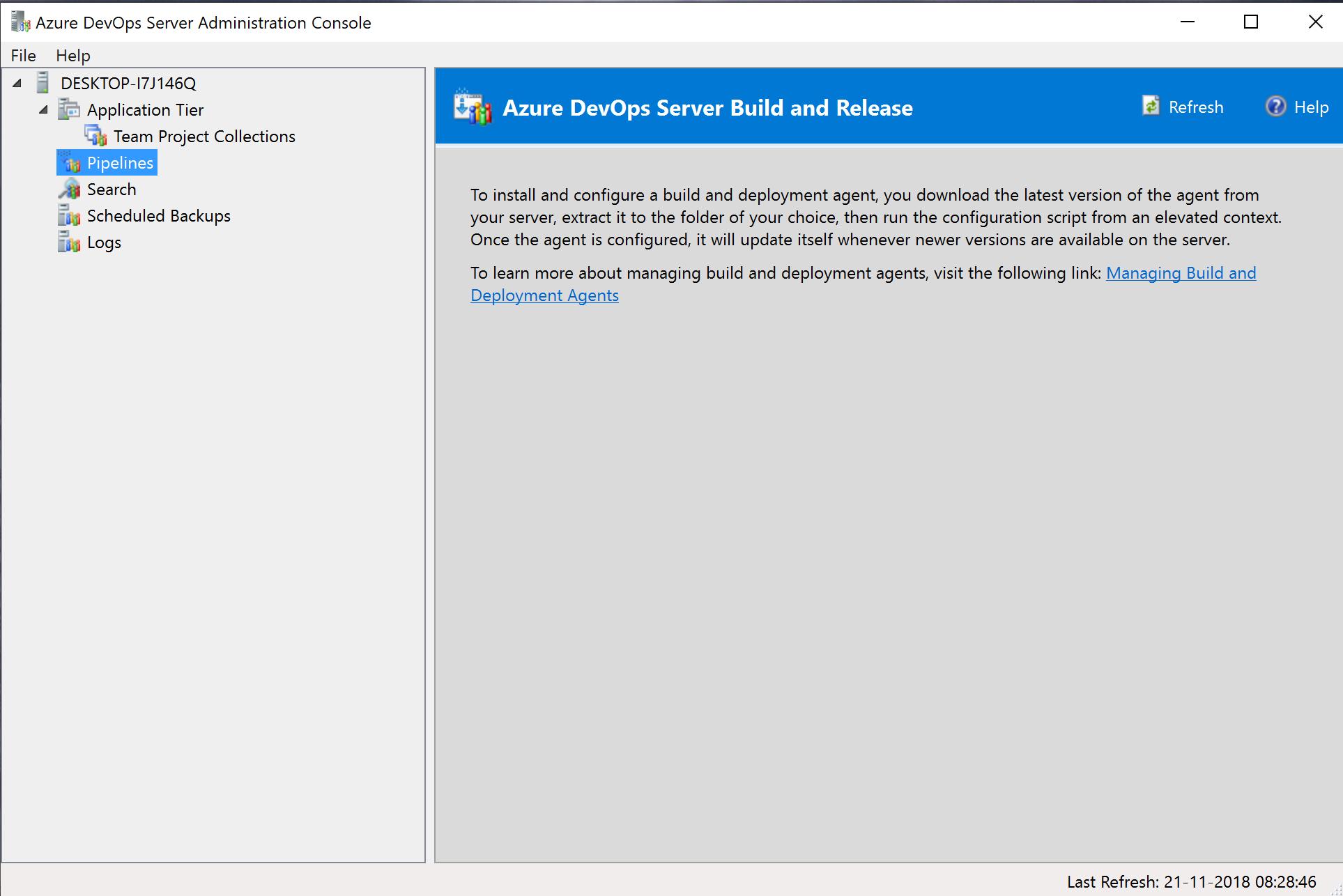 Installation of #AzureDevOps Server 2019 RC1 for your Team Work