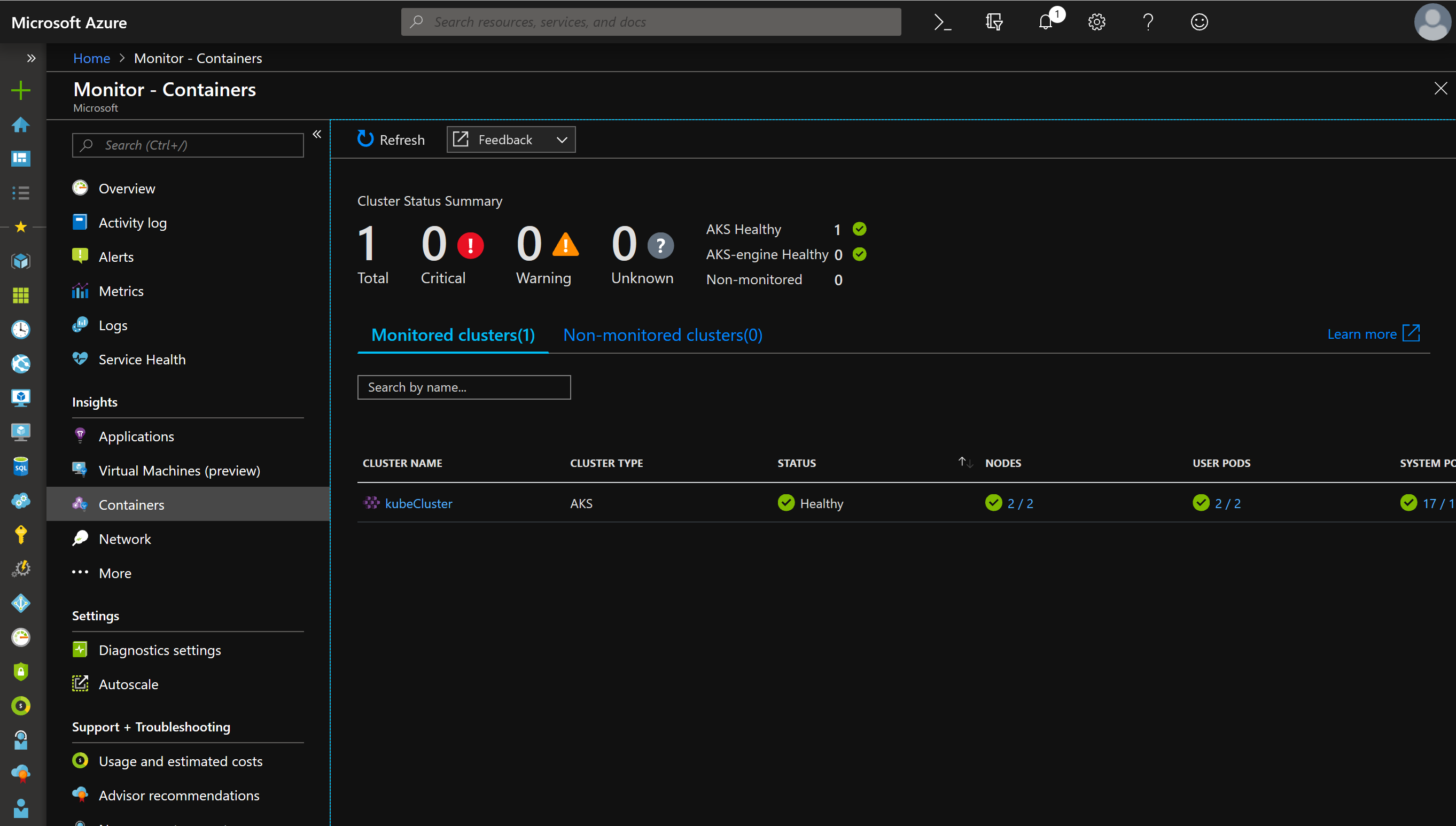 View Container Live logs with #Azure Monitoring #AKS #Kubernetes