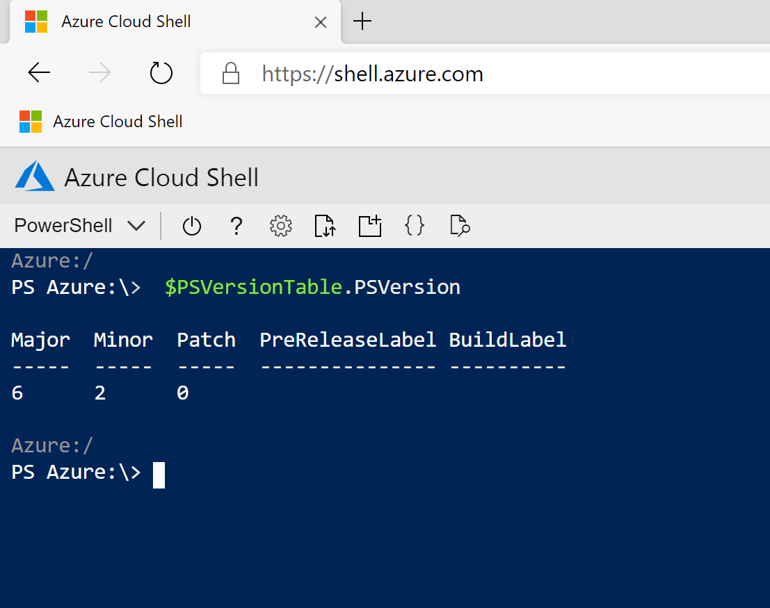 Microsoft #Azure CloudShell for Management tasks #Bash #Powershell