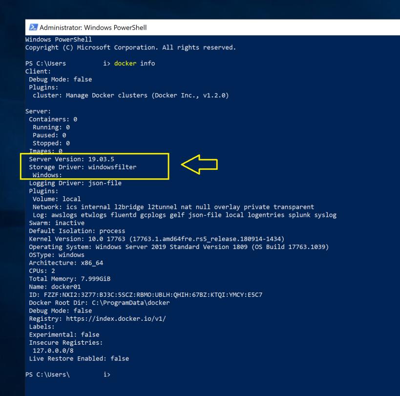 Docker Linux Container Running On Windows Server 2019