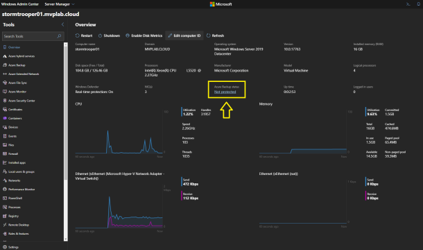#Microsoft Windows Admin Center and Azure Backup Management #WAC #Azure