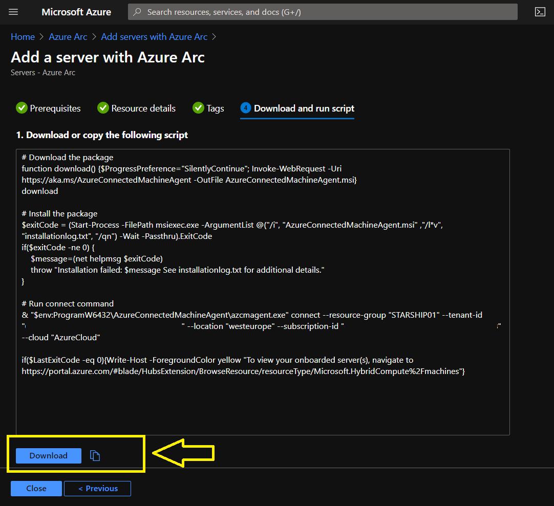 Adding Windows Server 20H2 Core to Azure Arc Services with #WindowsAdminCenter #Winserv #Azure